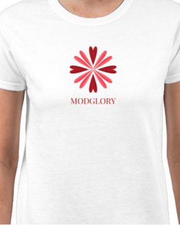 Ladies, 100% Cotton, White, ModGlory, Logo, Tee, Shirt